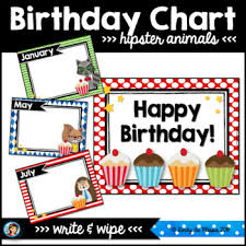Classroom Wall Decoration With Charts Hipster Animals Classroom Decor Birthday Chart