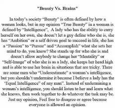 Beauty Vs Brains Quotes