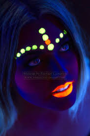 having fun with uv makeup blacklight party