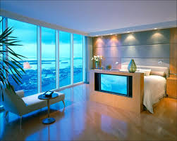 nice modern master bedrooms. Bedroom, Stylish Bed Frame That Integrated With Tv Cabinet Looks So Great Applied In Modern Nice Master Bedrooms A
