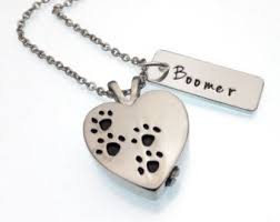 pet ashes jewelry cremation urn necklace dog by stedbyemma