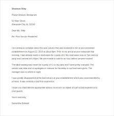 Letter Of Complaint Sample For Poor Service 109585006 Formal