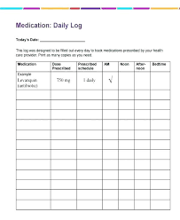 Daily Pill Chart Medication Schedule Template Weekly Chart Printable Medicine