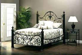 Black Rod Iron Bed Queen Size Wrought Iron Bed Black Iron Bed Frame ...