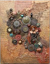 steampunk art found objects art