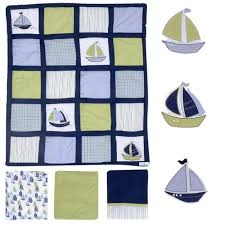 nautica kids zachary 7 piece crib bedding set