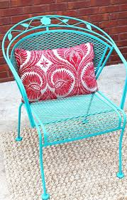 how to paint patio furniture with chalk how to paint a wrought iron patio set with