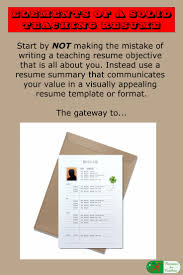 Teaching Resume Elements Of A Solid Teaching Resume 61