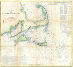 Details About 1857 Coastal Map Nautical Chart Of Cape Cod Nantucket And Marthas Vineyard