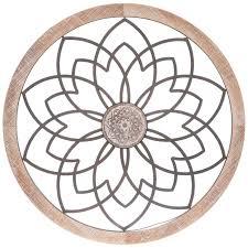 medallion circle metal wall decor