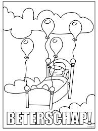 Kleurplaat Ziek Nijntje Miffy Kleurplatenlcom
