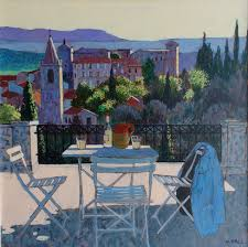 painter mike hall evening drinks in provence