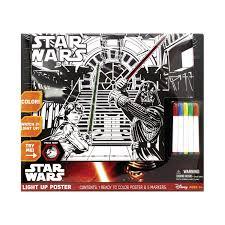 Star Wars Light Up Poster Star Wars Episode Vii The Force Awakens Light Up Poster 5 Markers Brand