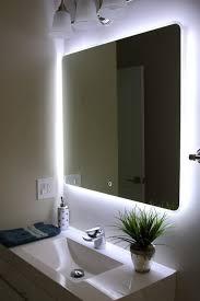 cute bathroom mirror lighting ideas bathroom. Perfect Mirror Decorating Cute Bath Mirror With Lights Bathroom Backlit Vanity Light In Of  And Back Lighted Mirrors Intended Lighting Ideas L
