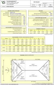 Wind Load Chart Wind On Structures Analysis Spreadsheet To Eurocode 1 4