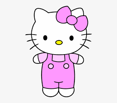 Hello Kitty Very Easy Cartoon Drawing Png Image