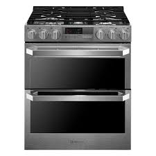 double oven gas range. Display Product Reviews For LUTD4919 5-Burner 3-cu Ft / 4.3-cu Double Oven Gas Range B