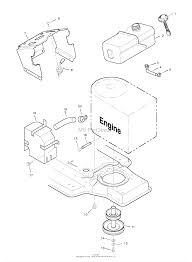 murray 42910x92a lawn tractor 1996 parts diagram for engine mount zoom