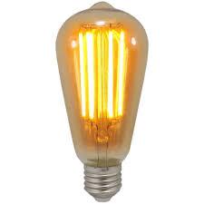 6 Watt St64 Es E27mm Decorative Dimmable Antique Lantern Led