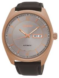 seiko mens automatic rose gold watch samuels jewelers seiko mens automatic rose gold watch