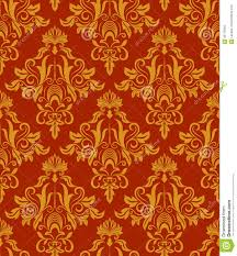 seamless vintage wallpaper pattern orange. Brilliant Seamless Download Seamless Red And Yellow Vintage Damask Wallpaper Pattern Stock  Vector  Illustration Of Gold On Pattern Orange A