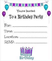 Blank Birthday Invitations Cafe322 Com