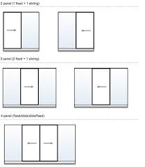 photos of sliding glass door sizes