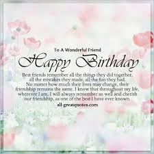 Birthday Quotes For Best Friend Inspiration Birthday Quote To A Best Friend Clickadoonet