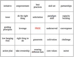 buzzword bingo generator donor power blog fun