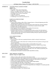 Intern Resume Examples Data Science Intern Resume Samples Velvet Jobs 31