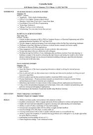 Intern Resume Examples Data Science Intern Resume Samples Velvet Jobs 31