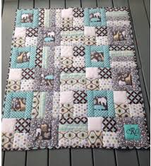 Stitch In The Ditch Puffy Baby Quilt With Just Three Blocks ... & Thick loft batting for puffy baby quilt Adamdwight.com