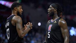 Paul George and Montrezl Harrell ...