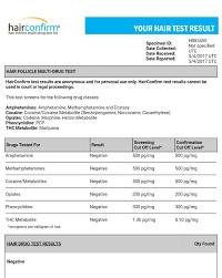 Hair Drug Test Chart Hair Razor Leading Detox Treatment