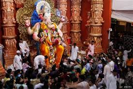 Image result for images of ganpati visarjan