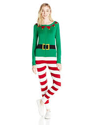 Love By Design Women's Elf Christmas Onesie - Kigurumi Pajamas