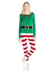 Love By Design Women's Elf Christmas Onesie - Kigurumi Pajamas