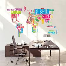 diy office art. Beautiful Diy Colorful Letters World Map Wall Stickers Living Room Home Decorations  Creative Pvc Decal Mural Art Diy Office Tree Personalized  Throughout