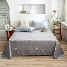 plaid cotton bed sheet sets twin full