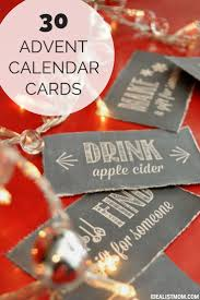 Fill Your Advent Calendar With Easy Holiday Fun...Chalkboard Style