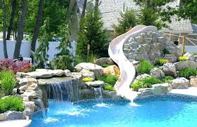 inground pools with rock waterfalls. Inground Pools With Waterfalls For Custom Rock Waterfall Water Slide From Pool Town . T