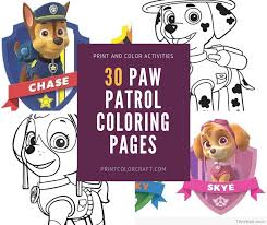 31 Paw Patrol Coloring Pages Print Color Craft