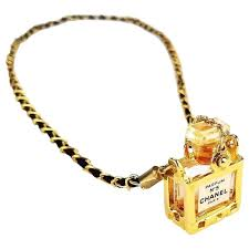 chanel no5 perfume bottle pendant gold chain necklace for at 1stdibs