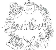 Winter Printable Coloring Pages Activities Free Holiday Winte