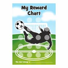 A4 Football Goal Reward Chart And 18 Matching Stickers