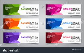 Creative Banner Design For Website Set Modern Web Banner Design Background Stock Vector