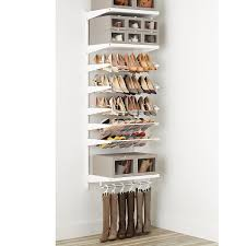 White & White elfa dcor Shoe Wall