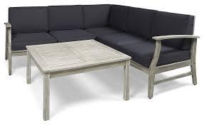 martina outdoor acacia sofa and coffee