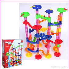 marble race deluxe diy construction marble race run play set maze track building blocks toy baby kid gifts artificial intelligence app