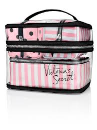 victoria s secret train case cosmetic makeup bags 4 piece travel case walmart
